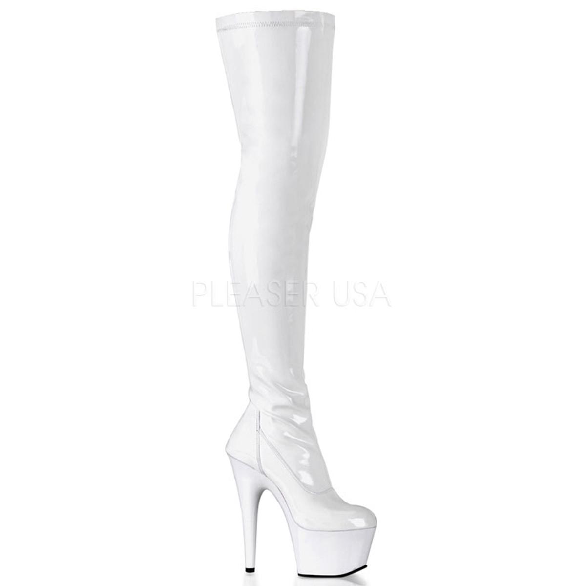 Side Zipper Black;6 pleaser Womens 5 Inch Plain Stretch Knee Boot