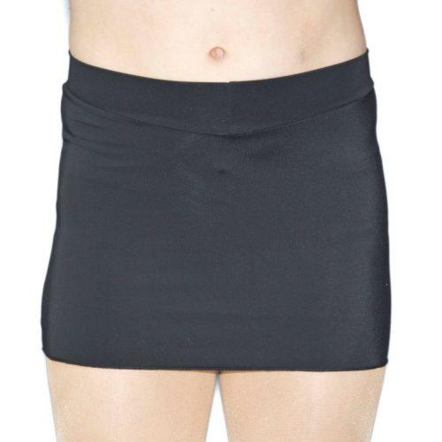 V-Front Mini Skirt Black - Front