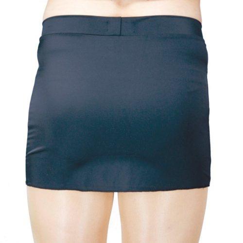 V-Front Mini Skirt Black - Back