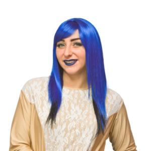 Blue crossdresser Wig