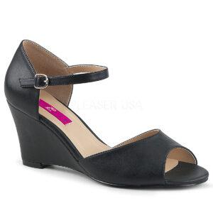 Pleaser Pink Label – Kimberly 05 Black Faux Leather - PLE KIM05/BPU
