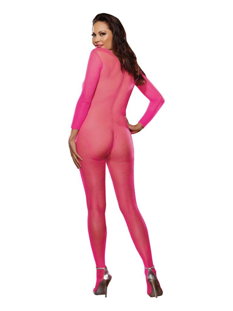 Fishnet Bodystocking - Neon Pink