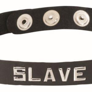 Wordband Leather Collar - SLAVE