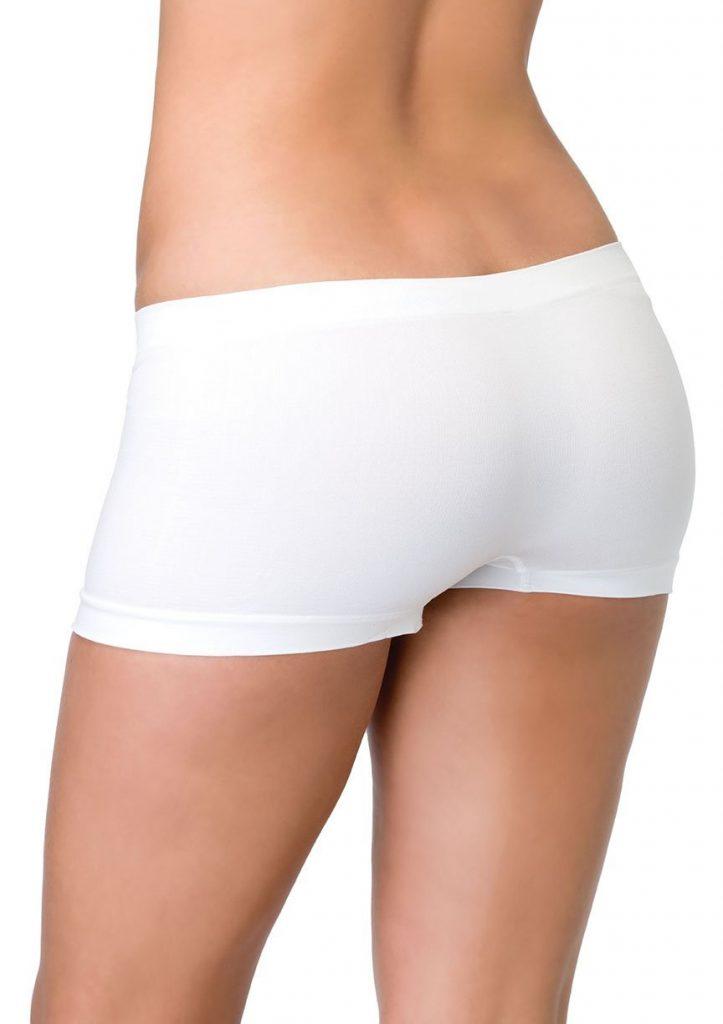 Stretchy Seamless Booty Short - White