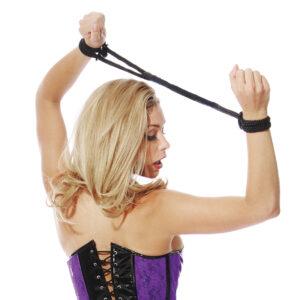 Silk Rope Love Cuffs - Black