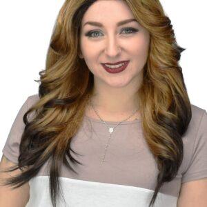 Elise Wig - Ombre Brown/Golden Blonde