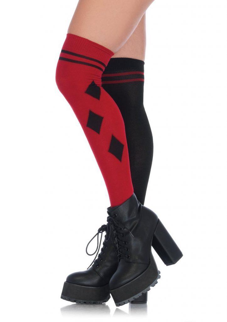 Harlequin Over The Knee Socks