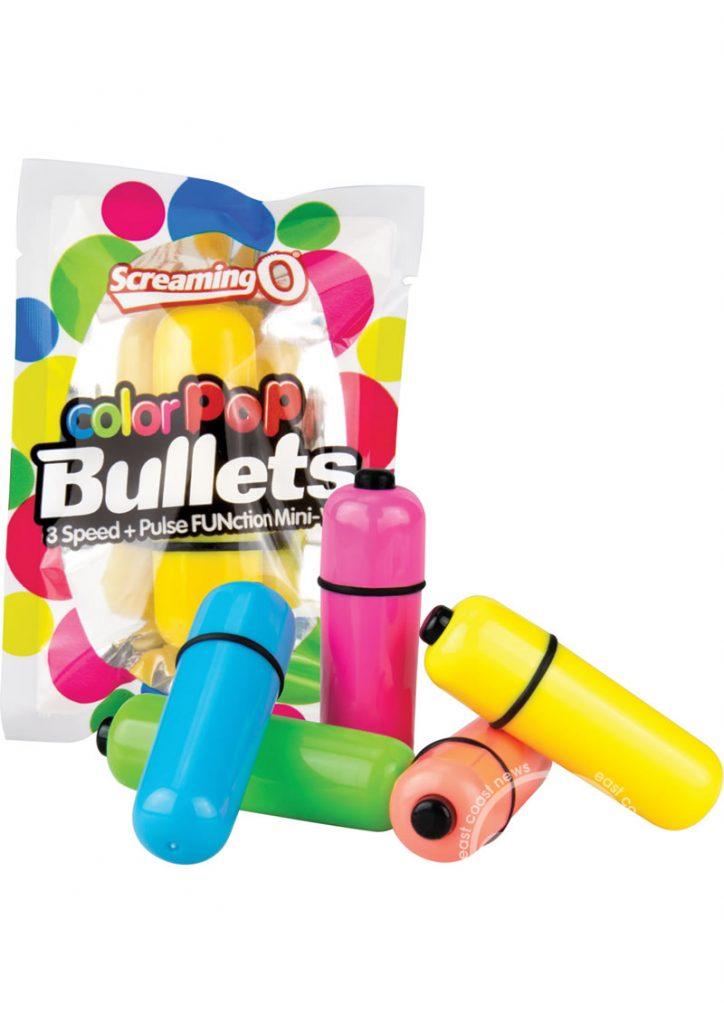 Color Pop Bullets Waterproof Assorted Colors