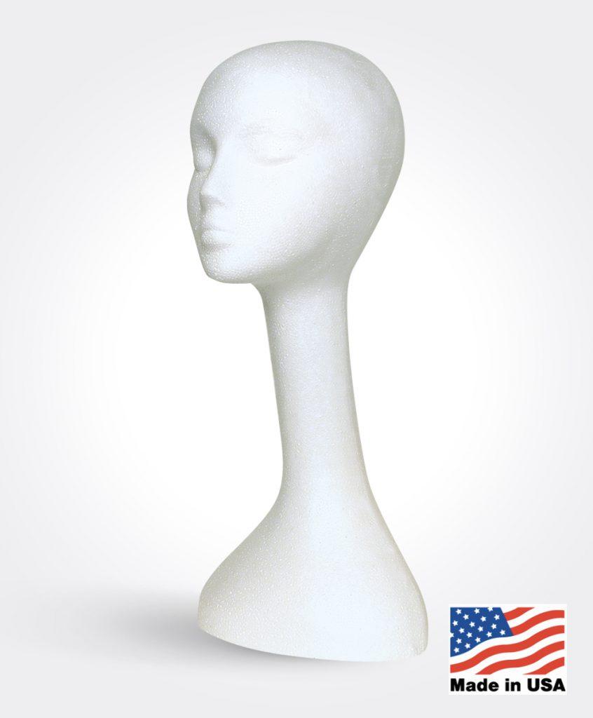 Long Neck Styro Manikin – White