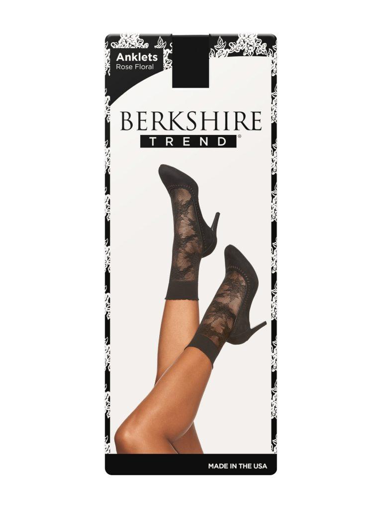 Floral Lace Anklet – Black