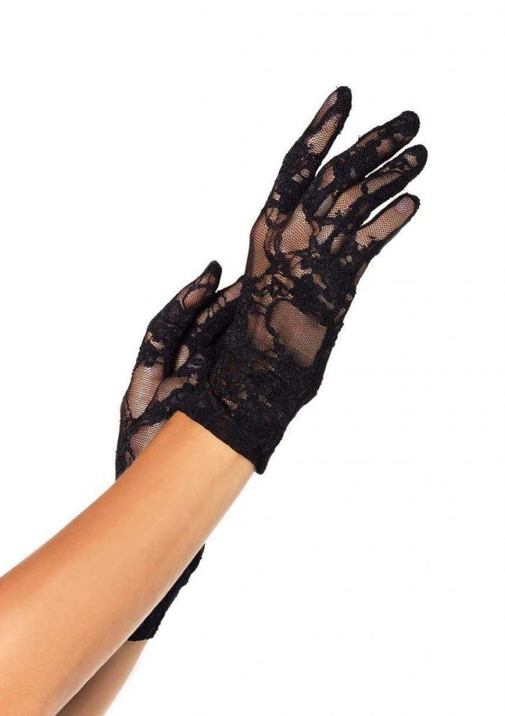 Stretch Lace Wrist Length Gloves