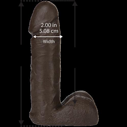"doc johnson 1015-13 vac u lock 8"" dildo dong chocolate"