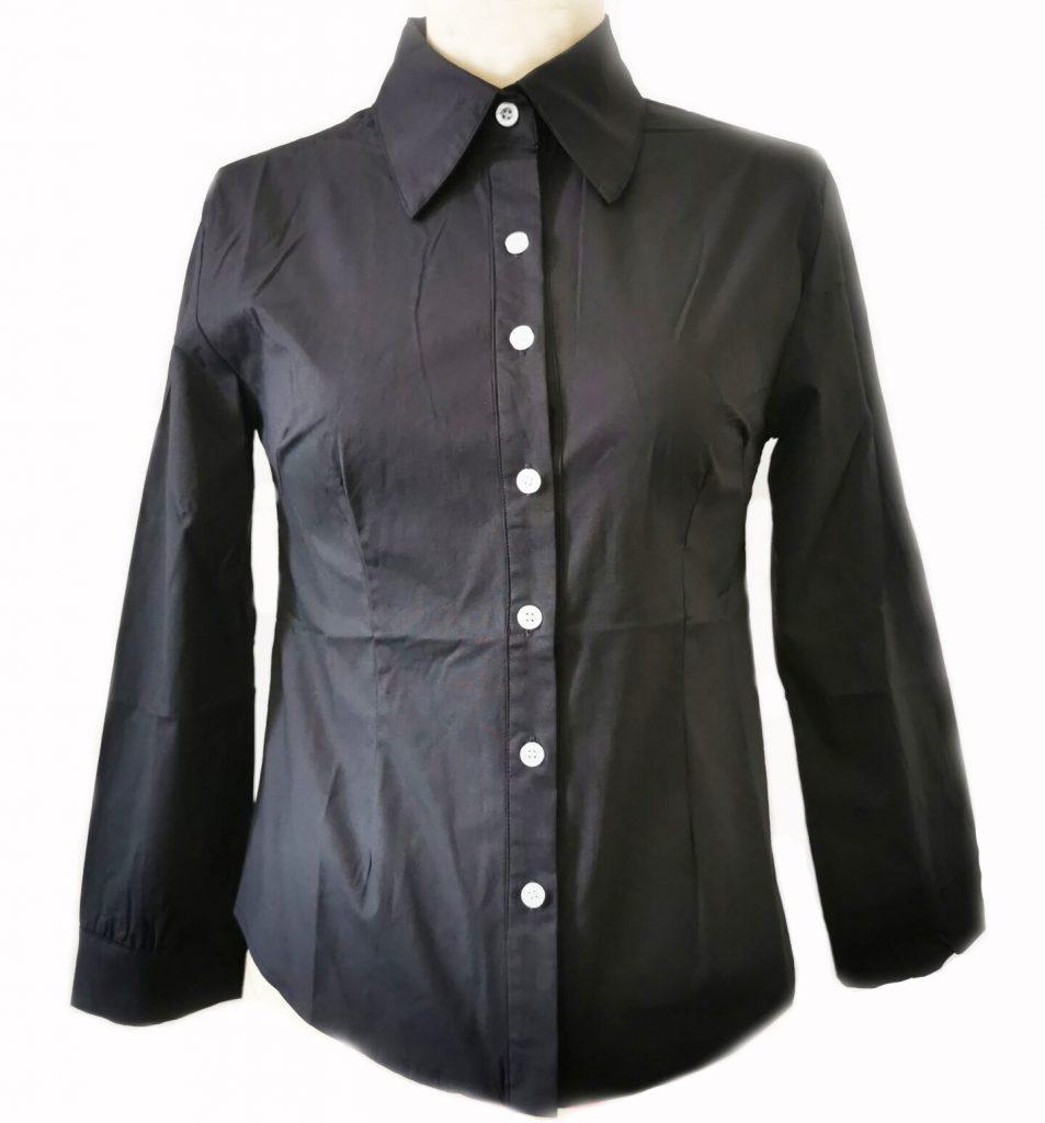 Janet's Office Girl Button Shirt – Black