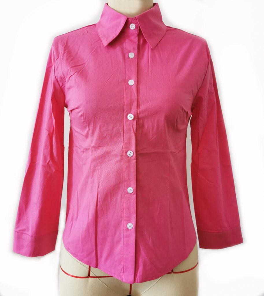 Janet's Office Girl Button Shirt – Hot Pink