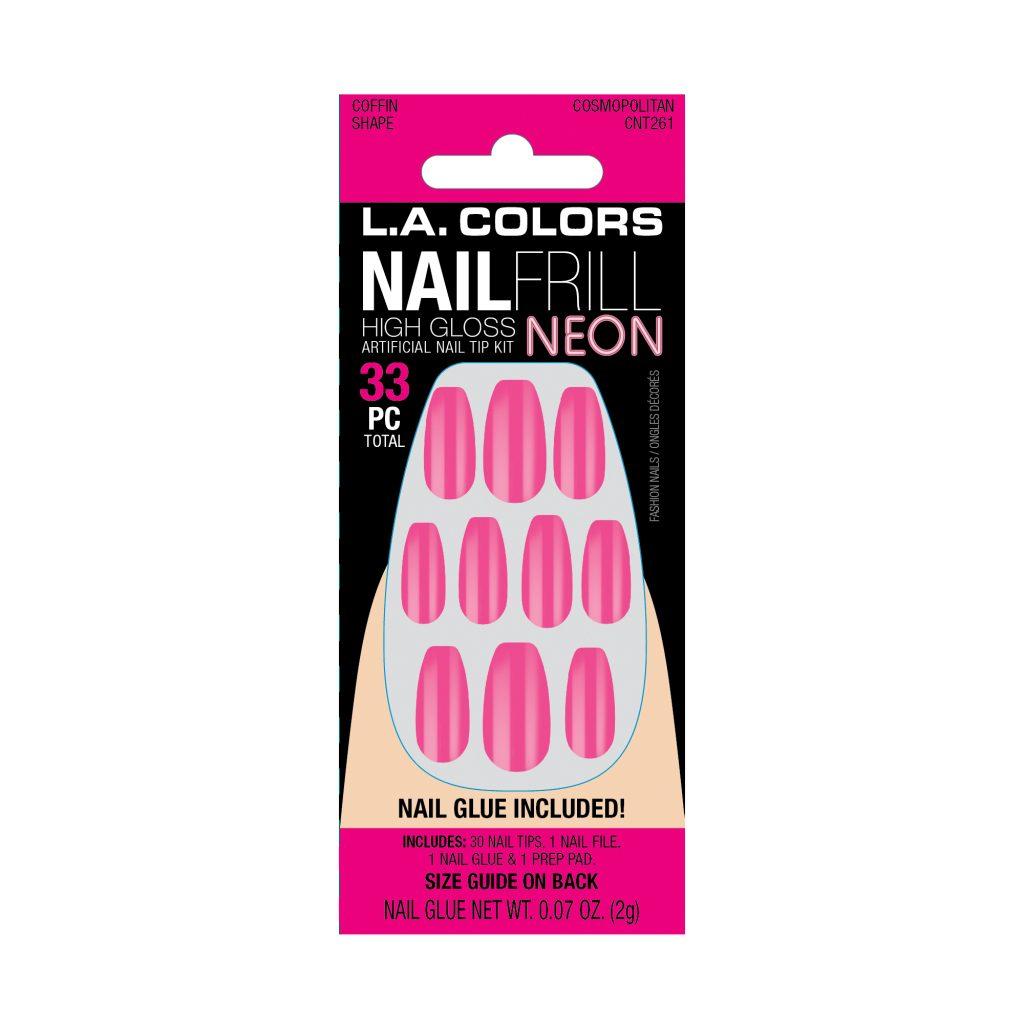 LA Colors Nail Frill Neon High Gloss Nails – Cosmopolitan