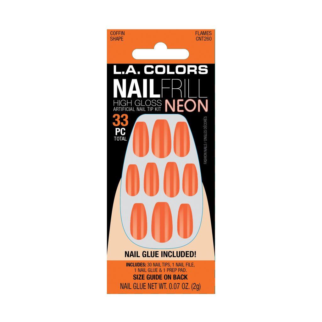 LA Colors Nail Frill Neon High Gloss Nails – Flames