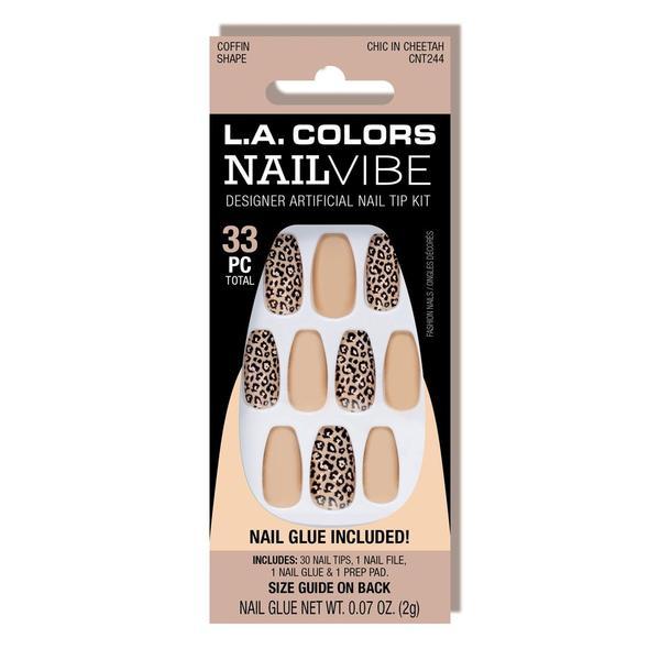 L.A. Colors Nail Vibe Designer Nails – Chic In Cheetah