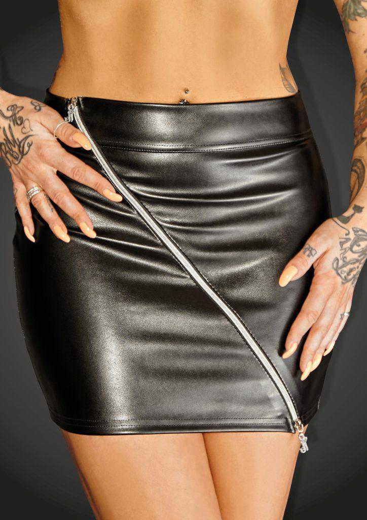 Noir EcoLeather Mini Skirt