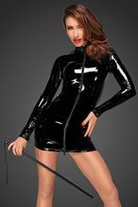 Noir PVC Long Sleeve Mini Dress