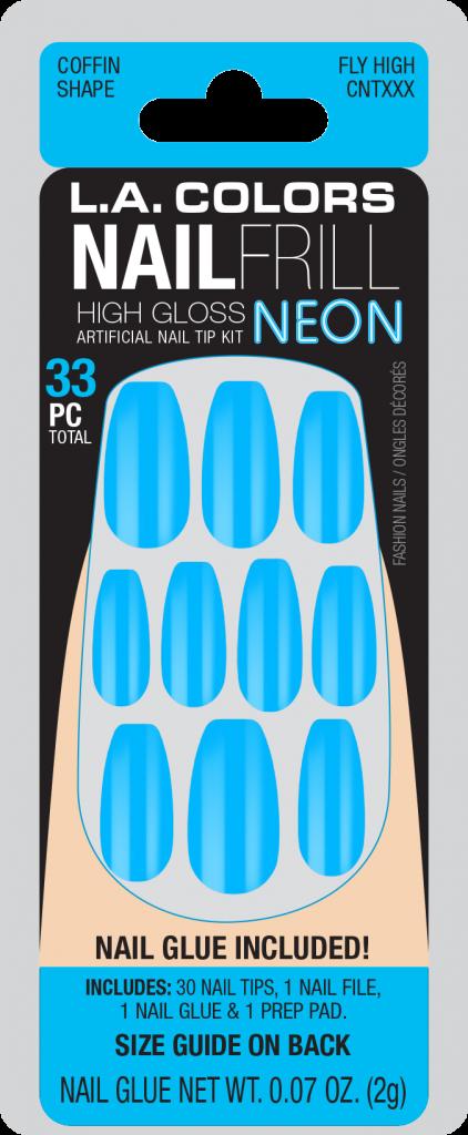 LA Colors Nail Frill Neon High Gloss Nails – Fly High