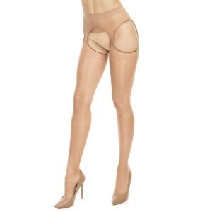 Glamory Hosiery 50121 Plaisir Ouvert 20 Pantyhose Extra Tall Plus Size for Crossdresser Transgender