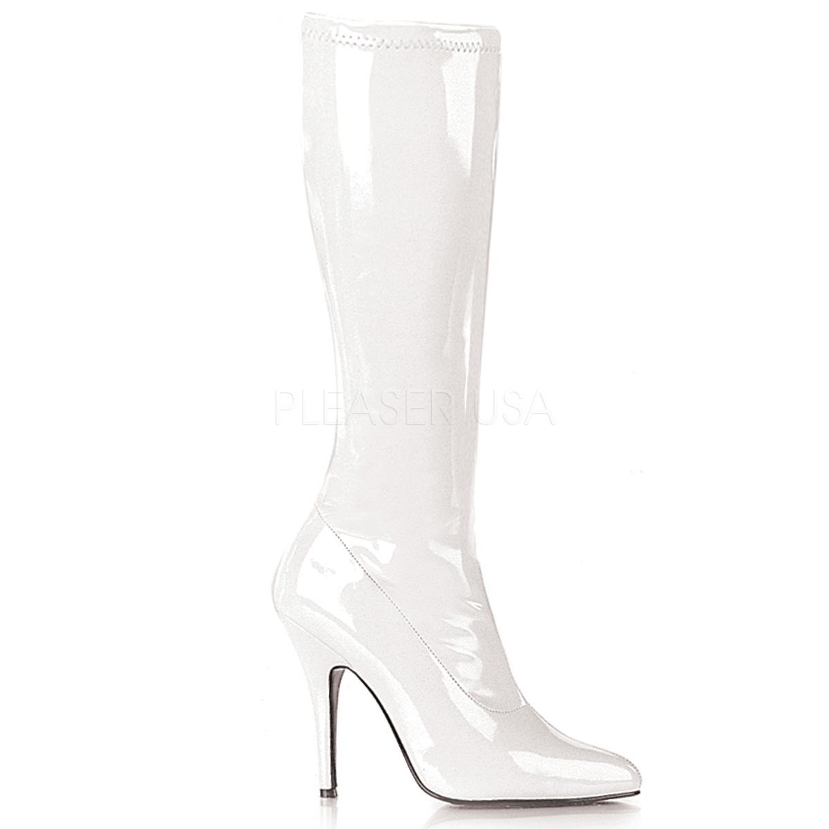 Ellie Gina Knee High White Closeout Janet S Closet